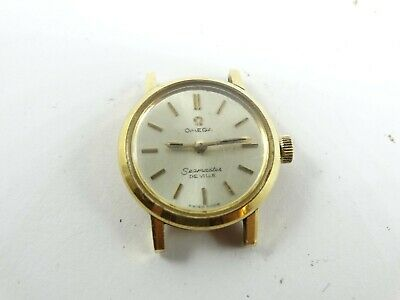 Vintage OMEGA Seamaster De Ville 18CT Gold Plated  Ladies Watch FREE SHIPPING • 286.10£
