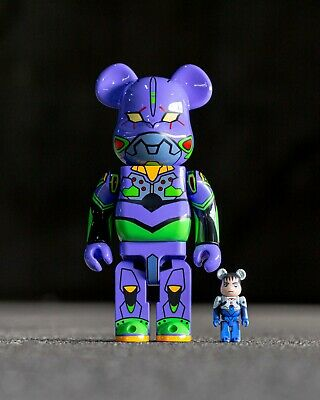 $390 • Buy Medicom Toy BE@RBRICK Bearbrick Ikari Shinji 100% & Evangelion First 400% Japan