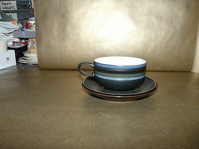 £9.49 • Buy Denby Jet Stripes Cup And Saucer