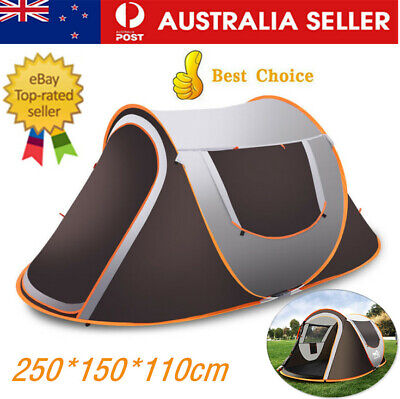 AU89.99 • Buy 3-4 Person Pop-Up Tent Outdoor Automatic Tents Waterproof Camping Hiking Tent AU
