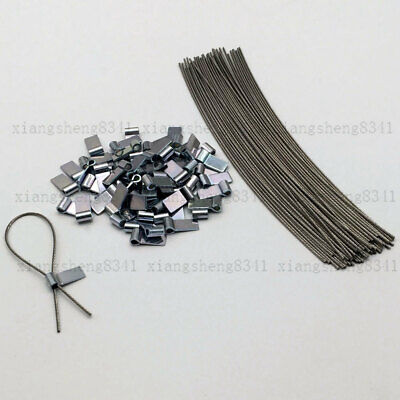 50 Wire&ferrules,security Seal Lead, Meter Security Tags For Taxi/electric Boxes • 15.99£