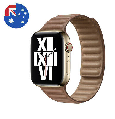 AU30 • Buy Leather Link Magnet Loop Strap For Apple Watch Band Series 1-6 SE 42 - 44mm