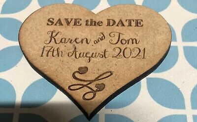 AU25 • Buy Sale!! Personalised Wedding  Save The Date  Fridge Magnets -  X 50pc