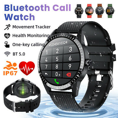 AU45.78 • Buy Smart Watch Bluetooth Heart Rate Blood Pressure IP67 Waterproof For IOS Android