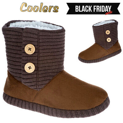 Ladies Winter Fur Comfort Slip On Warm Winter Slippers Shoes Boots Bootie Size • 9.95£
