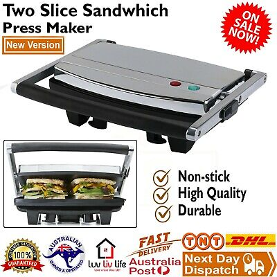 AU55.95 • Buy New Cafe Press Stainless Steel 4 Slice 2 Sandwich Maker Grill Toasted Toaster