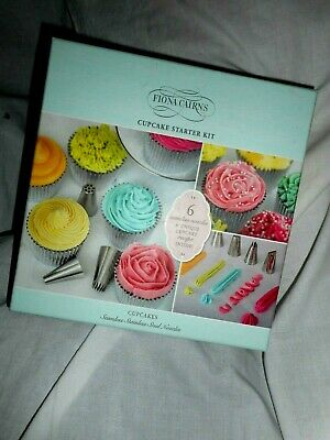 Fiona Cairns Cupcake Starter Kit Seamless Steele Nozzle Set Unique Recipe Gift  • 8.99£