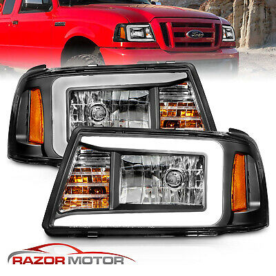 $189.96 • Buy [LED Bar] 01-11 For Ford Ranger Pickup Truck LED Running Light Black Headlights