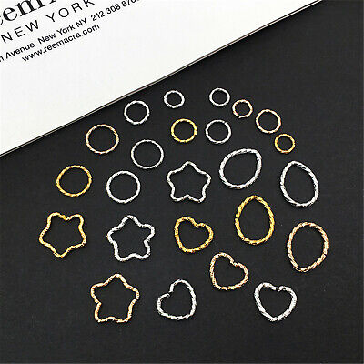 £4.59 • Buy 24pairs Open Back Bezels Pendants For DIY Crafts Earring Necklace Jewelry Making