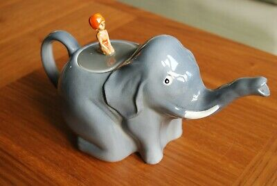 "Colclough China Elephant Teapot, Vintage  Sabu"" Design, 1930s, Jungle Book, Rare • 37.50£"