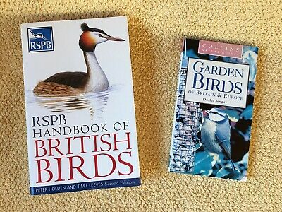 Two British Birds Books RSPB + Collins • 10£