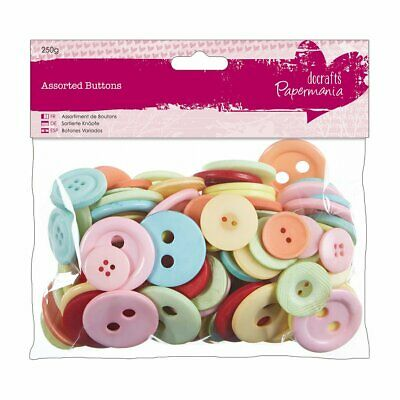 Papermania Vintage Assorted Buttons (250 G). Various Sizes Bulk Pack.  • 3.99£