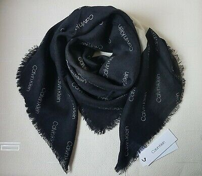 Calvin Klein Black Wool Large Scarf • 39.80£