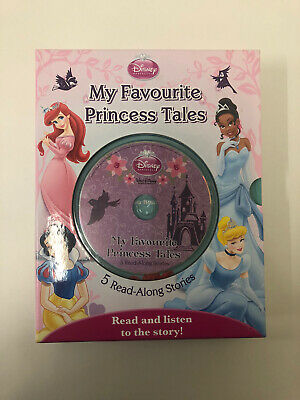Disney Favourite Princess Tales Read Along Book And CD • 6.50£