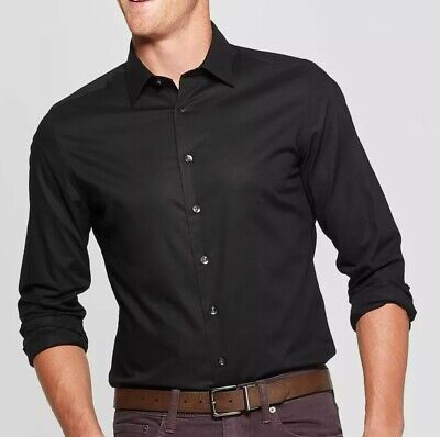 $19 • Buy LOT Of 5 Medium Mens H&M Black Dress Shirts Dry Cleaned For Catering Gig Cotton