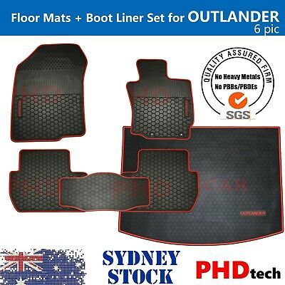 AU129 • Buy  Tailored All Weather Rubber Car Floor Mats & Boot Liner Set For OUTLANDER 2012+