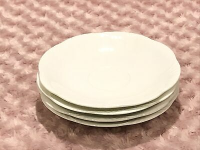 """Set Of 4 Villeroy & Boch Arco Weiss Large Saucers 7"""" • 14.26£"""