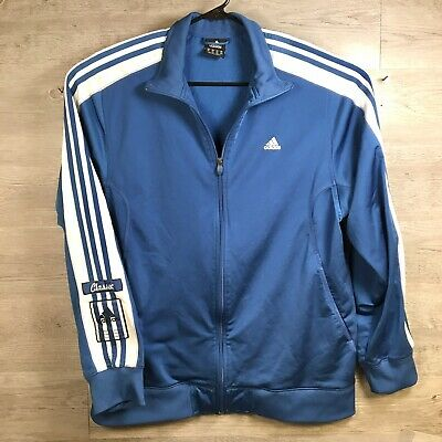 $ CDN43.24 • Buy Adidas Jacket Zip Up Classic Blue White Stripped Mens XL Track