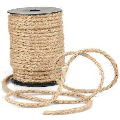 35m 4mm Jute String Thick Garden Twine Brown Hemp Rope Cord For Craft, Packin... • 42.08£