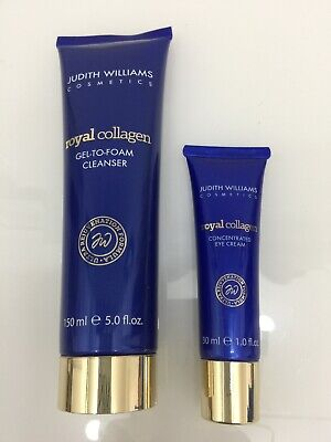 Judith Williams Royal Collagen Gel To Foam Cleanser 150ml & Eye Concentrate 30ml • 20£