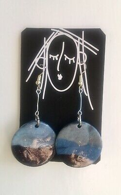 Handmade Polymer Clay Drop Earrings - Statement Jewellery - Lightweight • 7£