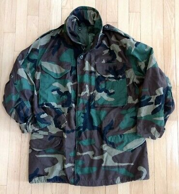 $25 • Buy  GI Woodland Camo M65 Field Jacket Coat Cold Weather SM Tailored To Short Arms