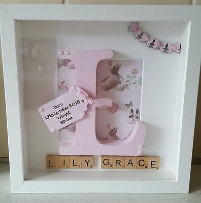 £20 • Buy Personalised Box Picture Frame New Baby Christening Gift Present