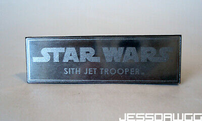 $ CDN10.13 • Buy Name Plate 1/6 Sith Jet Trooper Stand Base By Hot Toys Star Wars 12  Figure