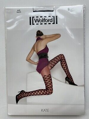Wolford New Kate Tights Black/Black Small • 10£
