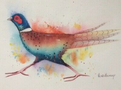£23 • Buy Original Watercolour Painting By Maria Moss A4 Pheasant