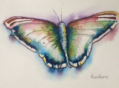 £23 • Buy Original Watercolour By Maria Moss A4 Butterfly