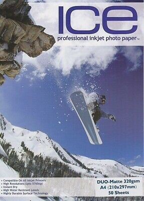 £9.50 • Buy Photo Paper A4 - 320gsm Double Sided Matte Coated, 50 Sheets.