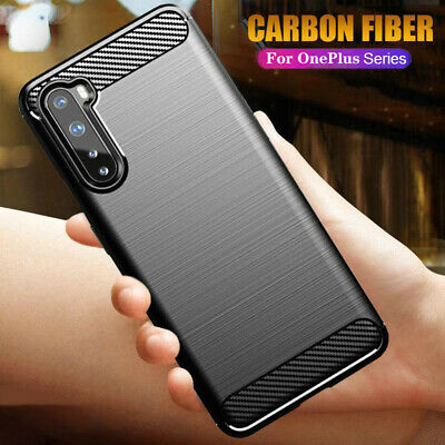 AU4.33 • Buy For OnePlus Nord 8 / 8 Pro 7T 7 6T 5T Slim Fiber Carbon Silicone TPU Case Cover