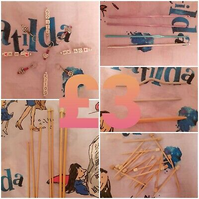 £3 • Buy Beginners Knitting And Crochet Kit Pins Cable Needles Hooks Stitch Markers