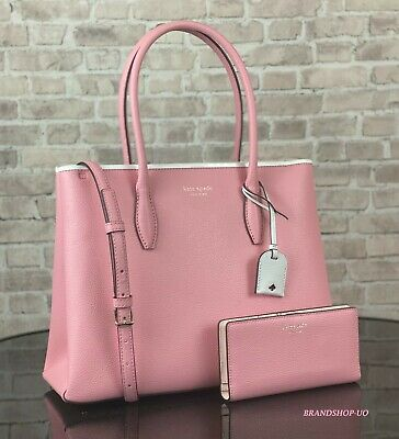 $ CDN203.28 • Buy Kate Spade Eva Leather Medium Satchel Crossbody Bag Handbag Tote Wallet Set