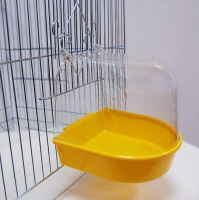 Bird Water Bath Tub For Pet Bird Cage Hanging Bowl Parrot Parakeet Birdbath Toys • 6.10£