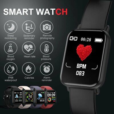 AU29.87 • Buy Bluetooth Smart Watch Heart Rate Health Blood Pressure Monitor Fitness Tracker