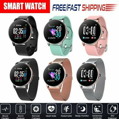 AU39.47 • Buy Women Men Fitness Bluetooth Smart Watch Waterproof Heart Rate For IOS Android