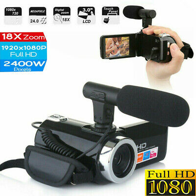 £34.79 • Buy Digital Camera Video 1080P 18X ZOOM 24MP DV Camcorder Recorder With Microphone