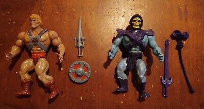 $149.99 • Buy Vintage 1981 Motu Skeletor & He-man Figure Lot + Weapons Taiwan Masters Universe