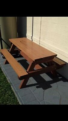AU220 • Buy Kids Timber Outdoor Setting Picnic Table Brand New 1.2 Metres