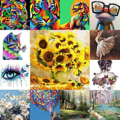 DIY Oil Acrylic Painting Kit Paint By Numbers Adult Children Frameless Gifts UK • 7.08£