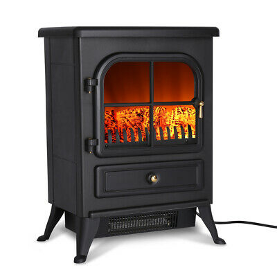 1800W Electric Fireplace Log Burning Fire Flame Effect Stove Heater Freestanding • 60.99£