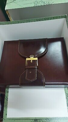 $ CDN392.47 • Buy Vintage Swiss Montres Rolex President Leather Box W Buckle Rolex Outer Box New