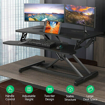 AU123.44 • Buy BlitzWolf Height Adjustable Standing Desk Riser Office Shelf Standup Computer