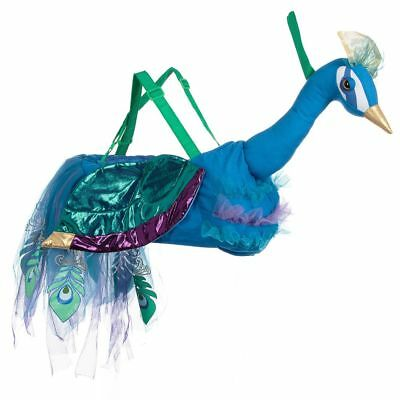Girls Boys Kids Ride On Blue Peacock Bird Toy Animal Dress Up Book Week Costume • 24.99£