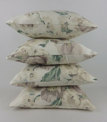 4 Designer Faded Floral Linen Rose Pillow Cushion Covers GP & J Baker Fabric • 49.95£
