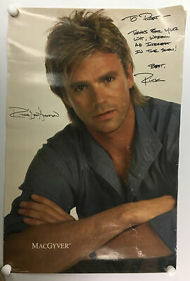 $199 • Buy Vintage Signed Richard Dean Anderson MacGyver Poster - Autograph