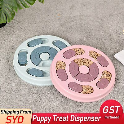 AU15.89 • Buy Puppy Treat Dispenser Dog Food Puzzle Toy Interactive Training Feeder Pet Supply