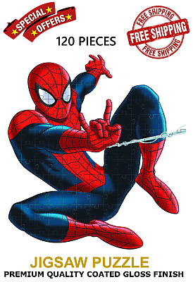 £6.99 • Buy Personalised 120 Pcs Kids Puzzle Jigsaw A4 Size Spiderman Add Your Name Jigsaw